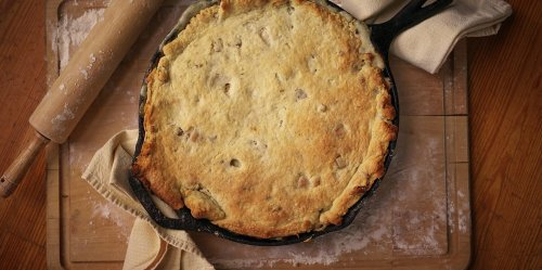 Chef Regina Charboneau's Coq au Vin Pot Pie with Bacon-Thyme Biscuit Crust