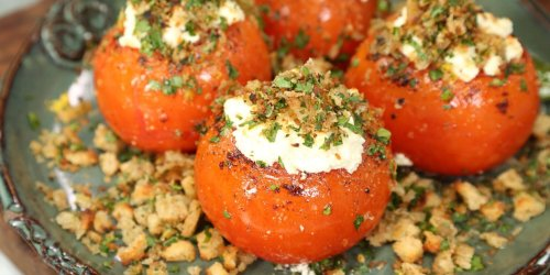 Rob McDaniel's Baked Tomatoes with Goat Cheese and Breadcrumbs are a Summertime Treat