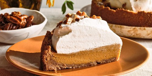 Gingered Sweet Potato Pie with Pecan-Crumb Crust and Ginger-Honey Whip