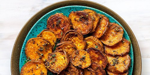Melting Sweet Potatoes with Herbs & Garlic