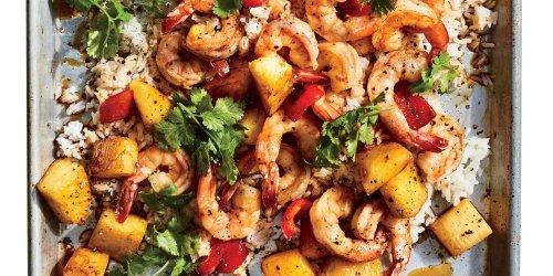 Sheet Pan Hawaiian Shrimp Recipe   Cooking Light