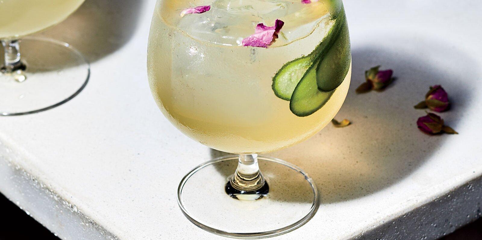 Cucumber-Rose Gin Spritz