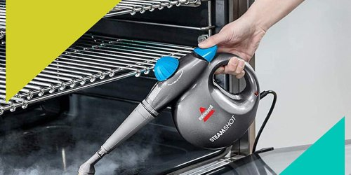This $30 Bissell Steam Cleaner Removes Stained Grout and Sanitizes Surfaces with the Push of a Button