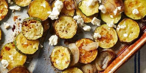 Balsamic Roasted Zucchini with Feta