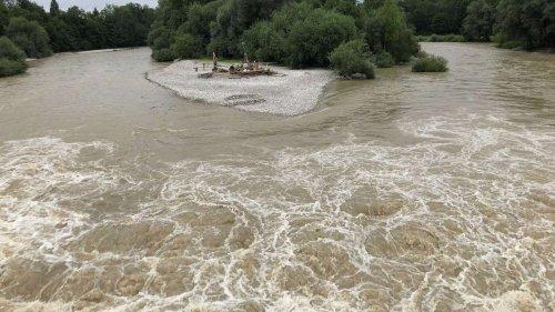 Hochwasser-Lage in Bayern entspannt sich in der Nacht -doch Isar-Pegel steigt weiter