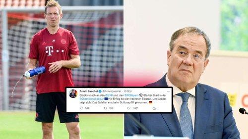 """Laschet fliegt FC-Bayern-Tweet um die Ohren: """"Ihr Schlusspfiff ist am 26. September"""""""