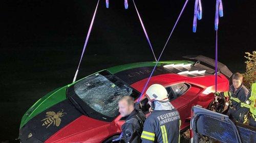"31-Jähriger versenkt Protz-Lamborghini in See - Feuerwehr braucht bei Bergung ""Fingerspitzengefühl"""