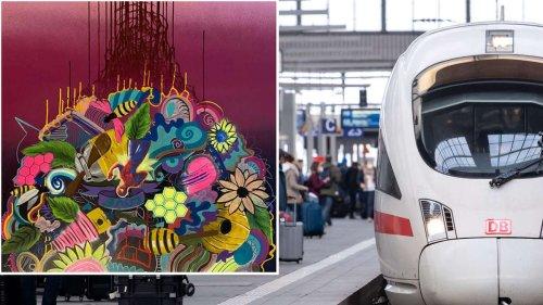 Künstler schläft in ICE ein: Als er in München aufwacht, ist sein 25.000-Euro-Gemälde weg