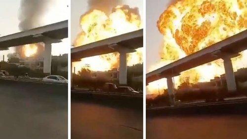 Riesiger Feuerball über Millionen-Metropole in Pakistan - Video zeigt verheerende Explosion