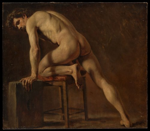 Attributed to Gustave Courbet | Study of a Nude Man | The Metropolitan Museum of Art