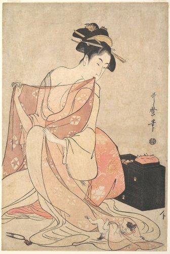 Kitagawa Utamaro   A Woman and a Cat   Japan   Edo period (1615–1868)   The Metropolitan Museum of Art