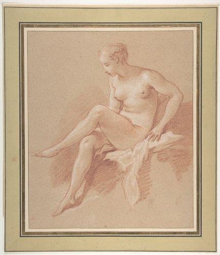 Seated female nude 1742