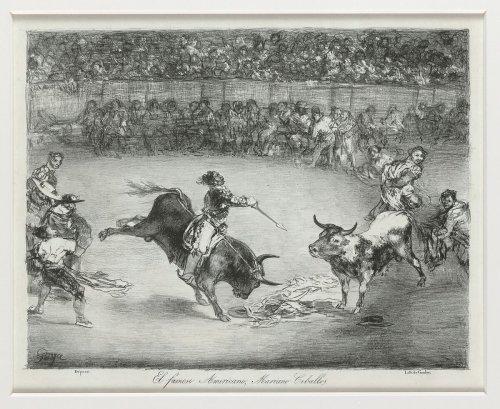 Goya (Francisco de Goya y Lucientes) | Mariano Ceballos riding a bull from the 'Bulls of Bordeaux' | The Metropolitan Museum of Art
