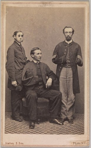 J. Gurney & Son | [Disabled Union Soldiers Posed in Aid of the U.S. Sanitary Commission at the New York Metropolitan Fair] | The Metropolitan Museum of Art