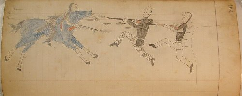 Maffet Ledger: Drawing   Southern and Northern Cheyenne   The Metropolitan Museum of Art