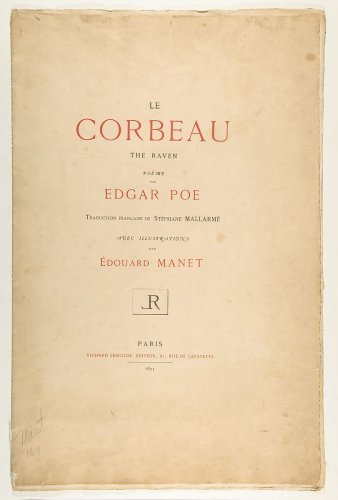 Edouard Manet | Portfolio cover and text for The Raven by Edgar Allan Poe | The Metropolitan Museum of Art