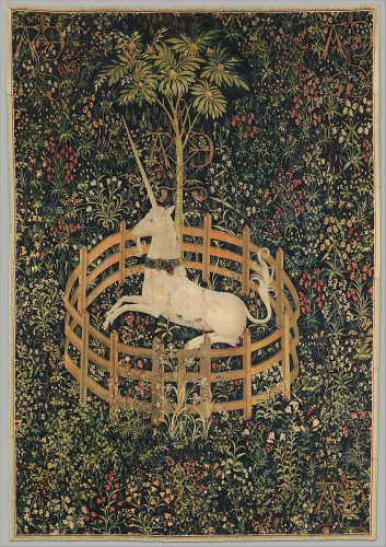 The Unicorn Rests in a Garden (from the Unicorn Tapestries) | French (cartoon)/South Netherlandish (woven) | The Metropolitan Museum of Art
