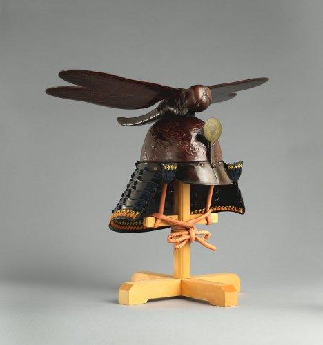 Restored by Hiromichi Miura | Helmet (<i>Kawari-kabuto</i>) Surmounted by a Dragonfly | Japanese | The Metropolitan Museum of Art