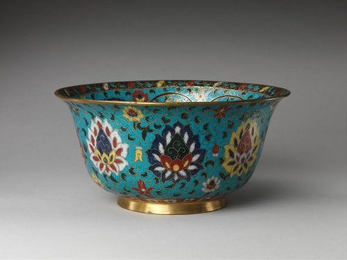 Bowl with the Eight Buddhist Treasures 16th century