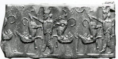 Cylinder seal | Achaemenid | Achaemenid | The Metropolitan Museum of Art