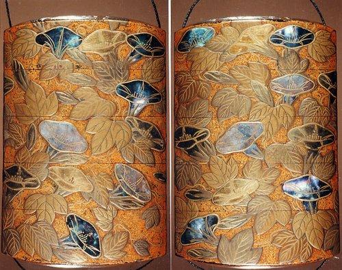 Case (Inrō) with Design of Flowering Morning Glory | Japan | Edo period (1615–1868) | The Metropolitan Museum of Art
