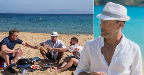 Gino D'Acampo branded 'TV gold' for thinking he'll be visiting pyramids in Athens