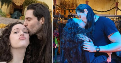 WandaVision star Kat Dennings kisses new man Andrew W.K. confirming romance