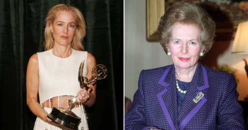 Gillian Anderson manages to keep straight face when asked if she spoke to Margaret Thatcher about The Crown