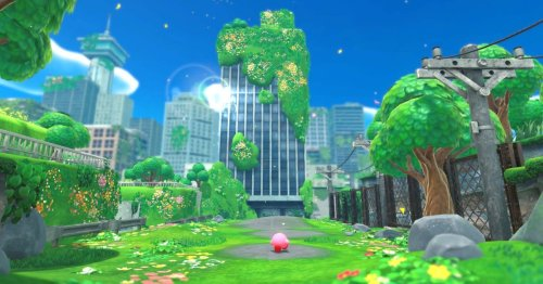 Kirby And The Forgotten Land is a 3D post-apocalyptic game that doesn't suck