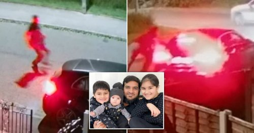 Dad chased after his own car as thief drove it away with his kids still inside