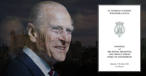 Full Order of Service for Prince Philip's funeral revealed