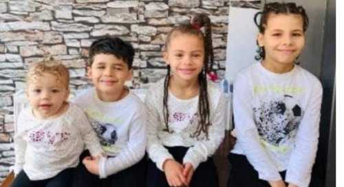 Desperate search for four young children who vanished 'with dad and gran'