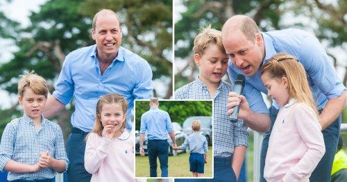 Prince William, George and Charlotte surprise runners at Sandringham half marathon