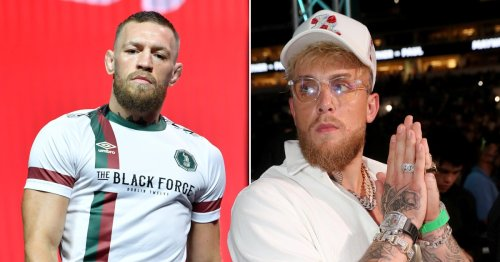 Jake Paul trolls Conor McGregor with diamond-encrusted $100k chain showing knocked-out fighter