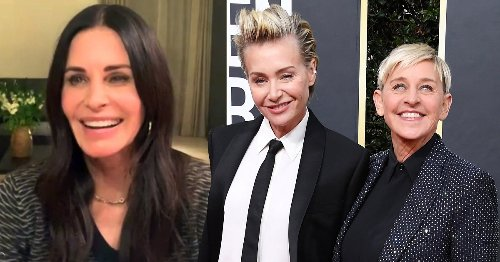 Ellen DeGeneres assures fans she's not having marital problems as she moves in with Courteney Cox