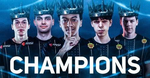 French president Emmanuel Macron congratulates League of Legends team Karmine Corp on EU Masters victory