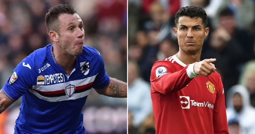 Antonio Cassano says Manchester United star Cristiano Ronaldo is not in the top five players of all time