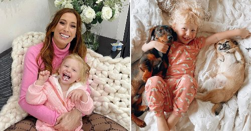 Stacey Solomon's son Rex looks happy and healthy on family fishing trip after getting stitches following nasty fall