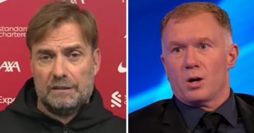 Jurgen Klopp responds to Paul Scholes claim ahead of Manchester United vs Liverpool