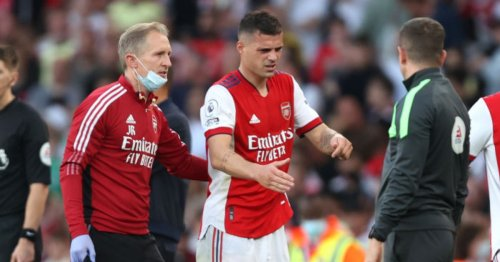 Granit Xhaka injury leaves Mikel Arteta 'pretty worried' after north London derby win