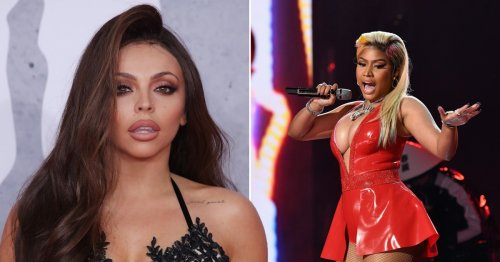 Nicki Minaj raps with a British accent and Jesy Nelson shows off grills as they confirm collab on solo single Boyz