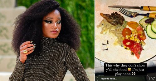 Met Gala chef defends meal at $30,000-a-head event after Keke Palmer's viral photo of food