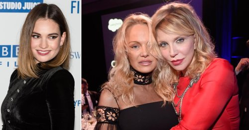 Courtney Love defends friend Pamela Anderson over 'f***ing outrageous' TV series starring Lily James