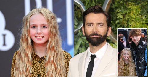 David Tennant's 10-year-old daughter Olive bosses the red carpet for Belfast and her parents couldn't be prouder