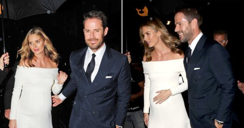 Jamie Redknapp and Frida Andersson beam with joy as they hit up Scott's after 'low-key London wedding'