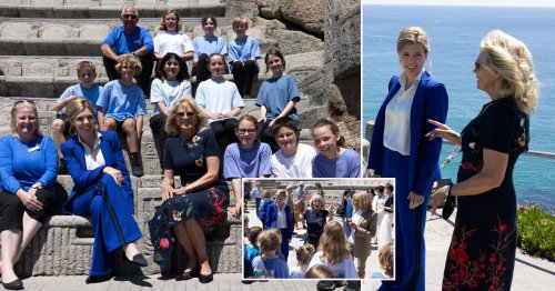 Cornish children perform play about plastic pollution for First Ladies at G7