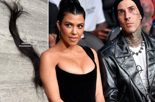 Kourtney Kardashian let Travis Barker cut her hair so things must be really serious