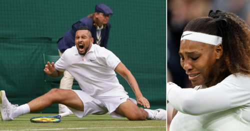 Nick Kyrgios reacts to 'devastating' Serena Williams exit after surviving own 'brutal' fall