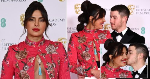 Baftas 2021: Priyanka Chopra and Nick Jonas are couple goals as they pack on PDA on the red carpet