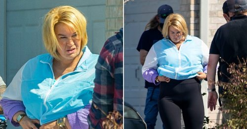 Renee Zellweger unrecognisable as she continues filming following backlash over 'damaging' fat-suit